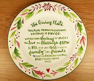 Highland Village The Giving Plate