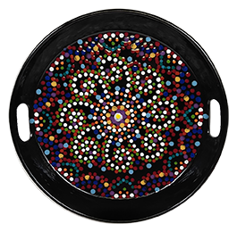 Highland Village Mosaic Mandala Tray