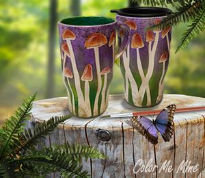 Highland Village Mushroom Mugs