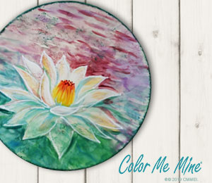 Highland Village Lotus Flower Plate